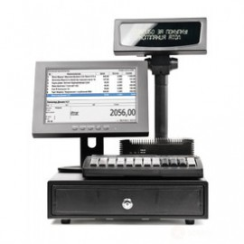 "POS-комплект 12"" NFD10 черный, LM12, ДП, ДЯ, KB-60 MSR, Windows POSReady 7"